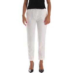 Oblečenie Ženy Nohavice Chinos a Carrot Fracomina FR19SP684 Biely
