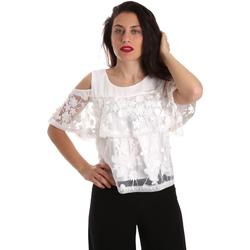 Oblečenie Ženy Blúzky Fracomina FR19SP605 Biely