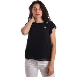 Oblečenie Ženy Blúzky Fracomina FR19SP567 Modrá