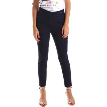 Oblečenie Ženy Nohavice Chinos a Carrot Fracomina FR19SP133 Modrá