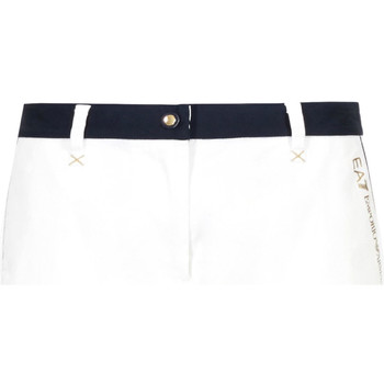 Oblečenie Ženy Šortky a bermudy Ea7 Emporio Armani 3GTS02 TN29Z Biely