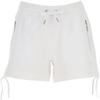 Oblečenie Ženy Šortky a bermudy Ea7 Emporio Armani 3GTS52 TJ31Z Biely