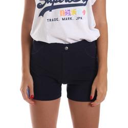Oblečenie Ženy Šortky a bermudy Key Up 5L79G 0001 Modrá