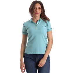 Oblečenie Ženy Polokošele s krátkym rukávom La Martina NWP002 PK001 Modrá