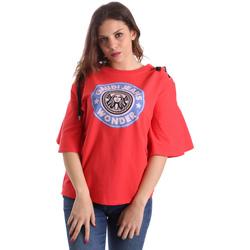 Oblečenie Ženy Tričká s krátkym rukávom Gaudi 911BD64037 Červená