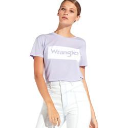 Oblečenie Ženy Tričká s krátkym rukávom Wrangler W7016D Fialový