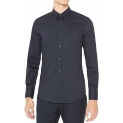 Oblečenie Muži Košele s dlhým rukávom Antony Morato MMSL00375 FA450001 Modrá