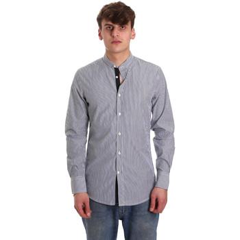 Oblečenie Muži Košele s dlhým rukávom Antony Morato MMSL00588 FA420042 Modrá