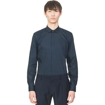 Oblečenie Muži Košele s dlhým rukávom Antony Morato MMSL00293 FA450001 Modrá