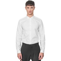 Oblečenie Muži Košele s dlhým rukávom Antony Morato MMSL00596 FA400072 Biely