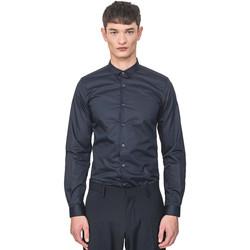 Oblečenie Muži Košele s dlhým rukávom Antony Morato MMSL00596 FA400072 Modrá