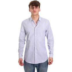Oblečenie Muži Košele s dlhým rukávom Antony Morato MMSL00596 FA420090 Biely