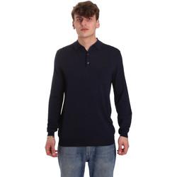 Oblečenie Muži Polokošele s dlhým rukávom Antony Morato MMSW01065 YA500057 Modrá