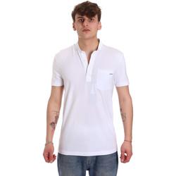 Oblečenie Muži Polokošele s krátkym rukávom Antony Morato MMKS01741 FA120022 Biely