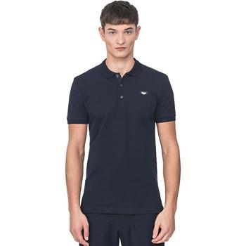 Oblečenie Muži Polokošele s krátkym rukávom Antony Morato MMKS01738 FA100083 Modrá