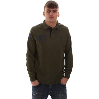 Oblečenie Muži Polokošele s dlhým rukávom U.S Polo Assn. 52416 47773 Zelená