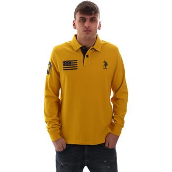 Oblečenie Muži Polokošele s dlhým rukávom U.S Polo Assn. 52416 47773 žltá