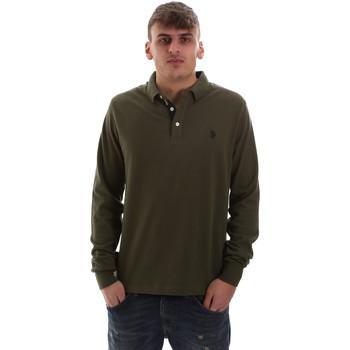 Oblečenie Muži Polokošele s dlhým rukávom U.S Polo Assn. 52415 47773 Zelená