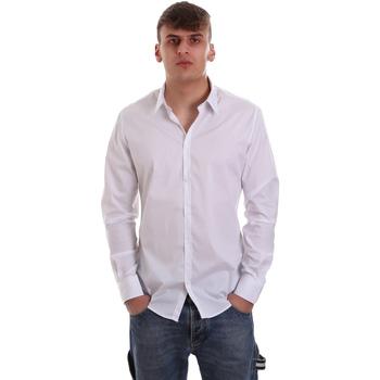 Oblečenie Muži Košele s dlhým rukávom Gaudi 921FU45014 Biely