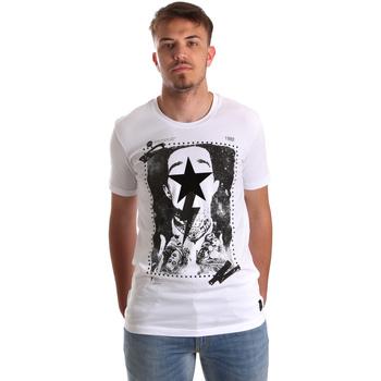Oblečenie Muži Tričká s krátkym rukávom Gaudi 921FU64002 Biely