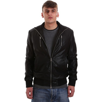 Oblečenie Muži Kožené bundy a syntetické bundy Gaudi 921BU38001 čierna