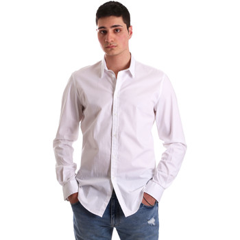 Oblečenie Muži Košele s dlhým rukávom Gaudi 921BU45001 Biely