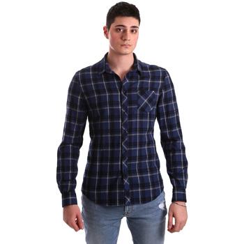 Oblečenie Muži Košele s dlhým rukávom Gaudi 921BU45006 Modrá