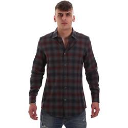 Oblečenie Muži Košele s dlhým rukávom Antony Morato MMSL00548 FA410091 Šedá