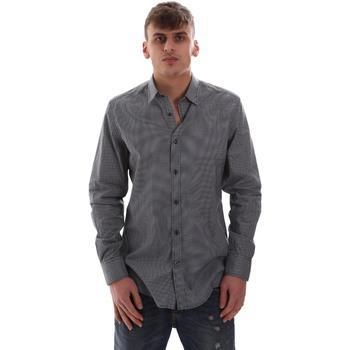 Oblečenie Muži Košele s dlhým rukávom Antony Morato MMSL00574 FA430158 Modrá