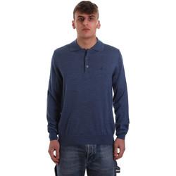 Oblečenie Muži Polokošele s dlhým rukávom Navigare NV11006 40 Modrá