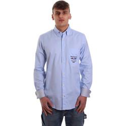 Oblečenie Muži Košele s dlhým rukávom Navigare NV91061 BD Modrá