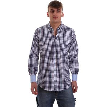 Oblečenie Muži Košele s dlhým rukávom Navigare NV91072 BD Modrá