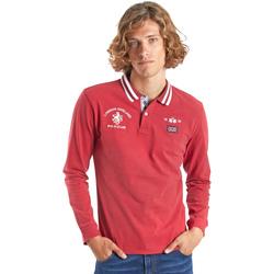 Oblečenie Muži Polokošele s dlhým rukávom La Martina OMP325 JS005 Červená