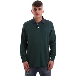 Oblečenie Muži Polokošele s dlhým rukávom La Martina OMP007 JS169 Zelená