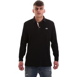 Oblečenie Muži Polokošele s dlhým rukávom La Martina OMP007 JS169 čierna