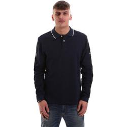 Oblečenie Muži Polokošele s dlhým rukávom La Martina OMPM36 JS169 Modrá