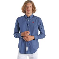 Oblečenie Muži Košele s dlhým rukávom La Martina OMC015 PP461 Modrá