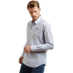 Oblečenie Muži Košele s dlhým rukávom La Martina OMC016 PP462 Modrá
