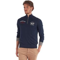 Oblečenie Muži Svetre La Martina OMS317 YW025 Modrá