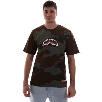 Oblečenie Muži Tričká s krátkym rukávom Sprayground SP018SBRO Hnedá