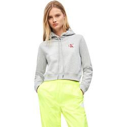 Oblečenie Ženy Mikiny Calvin Klein Jeans J20J210601 Šedá