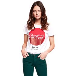 Oblečenie Ženy Tričká s krátkym rukávom Gaudi 921BD64047 Biely