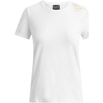 Oblečenie Ženy Tričká s krátkym rukávom Ea7 Emporio Armani 6GTT07 TJ12Z Biely