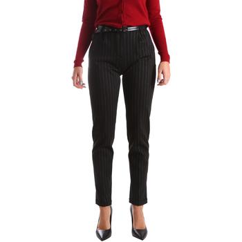 Oblečenie Ženy Nohavice Chinos a Carrot Fracomina FR19FP619 čierna