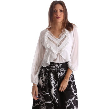 Oblečenie Ženy Košele a blúzky Fracomina FR19FMFLORRIE Biely