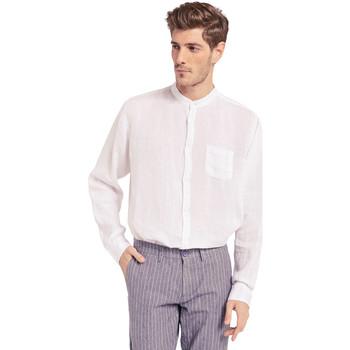 Oblečenie Muži Košele s dlhým rukávom Gaudi 011BU45001 Biely
