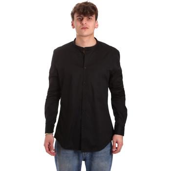 Oblečenie Muži Košele s dlhým rukávom Gaudi 011BU45013 čierna