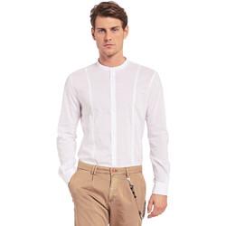 Oblečenie Muži Košele s dlhým rukávom Gaudi 011BU45031 Biely