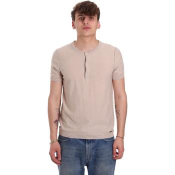 Oblečenie Muži Tričká s krátkym rukávom Gaudi 011BU53007 Béžová