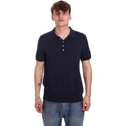Oblečenie Muži Polokošele s krátkym rukávom Gaudi 011BU53011 Modrá